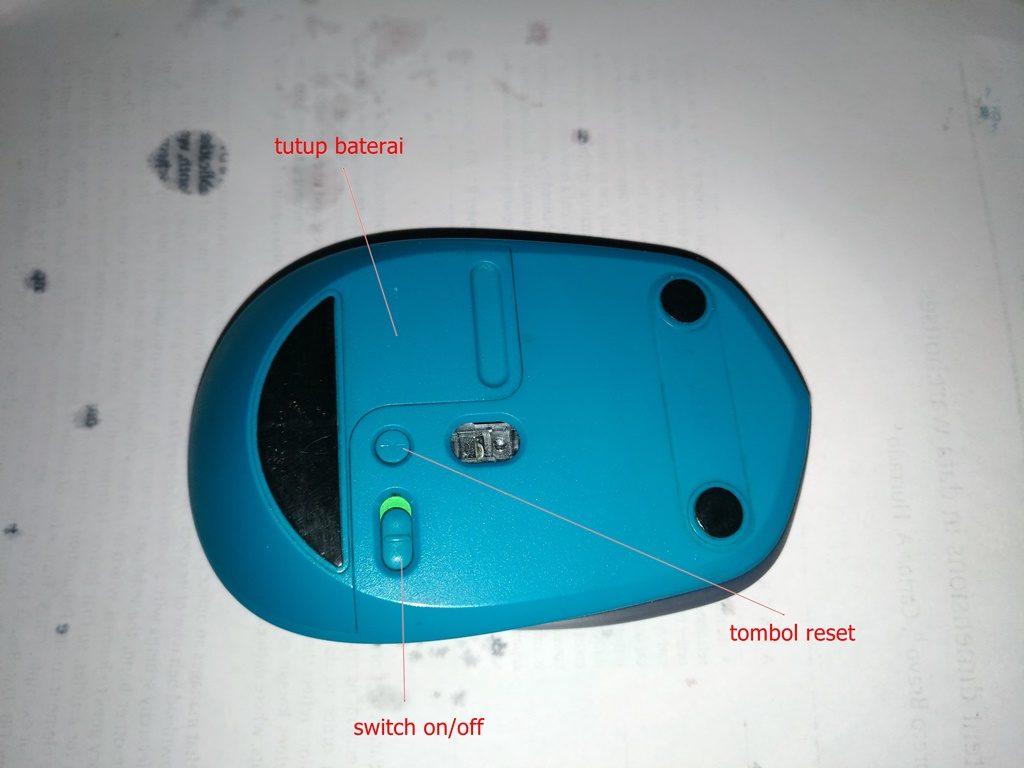 bagian bawah mouse