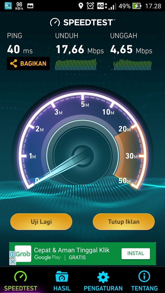 Speedtest dari AXIS