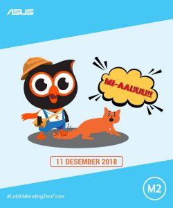 Poster peluncuran Zenfone Max Pro M2